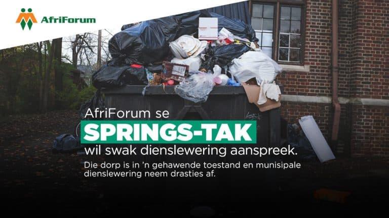 AfriForum se Springs-tak wil swak dienslewering aanspreek