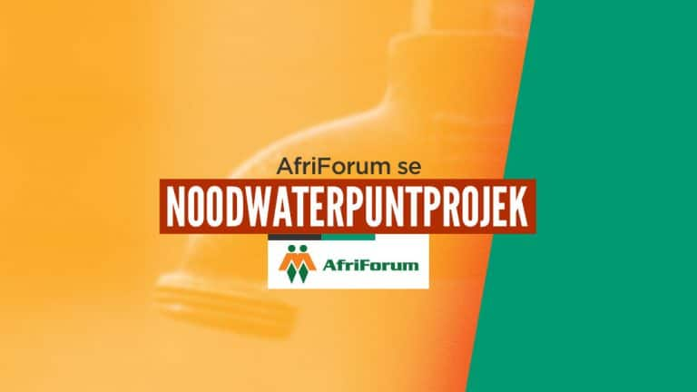 AfriForum se noodwaterpuntprojek