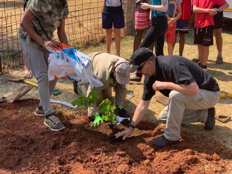 AfriForum se Benoni-tak plant bome by Sinethemba Hope House