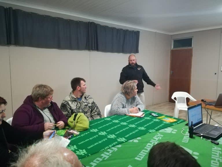 AfriForum se Velddrif-buurtwag ontvang opleiding in toneelhantering en patrollies