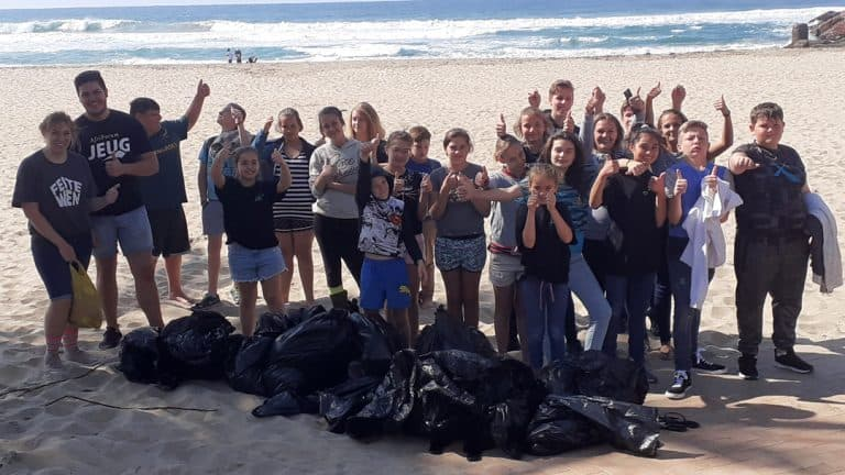 Clean-up operation on Margate's beach creates nature awareness among the youth