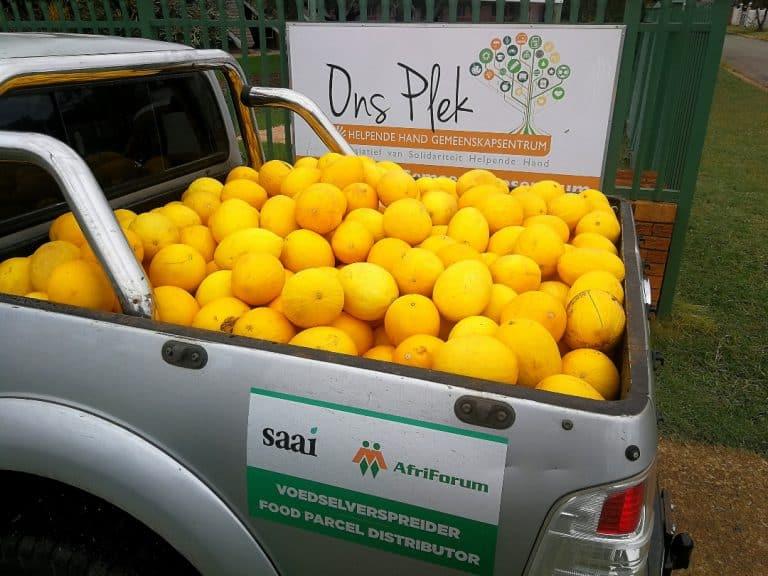 AfriForum se Oos-Moot-tak help met voedselprojek in die Moot