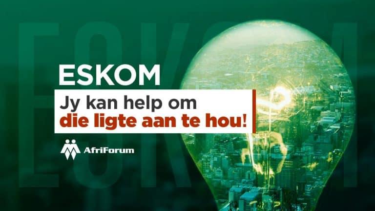 Help AfriForum se Klerksdorp- en Stilfontein-tak om die ligte aan te hou
