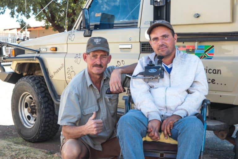 AfriForum Trauma-ondersteuningseenheid help kwadrupleeg se Kalahari-droom bewaarheid