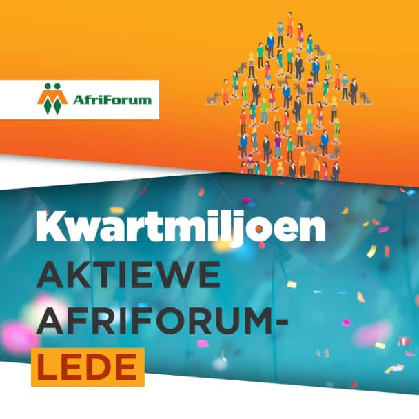 AfriForum het nou kwartmiljoen aktiewe lede; groei sterk tydens inperking