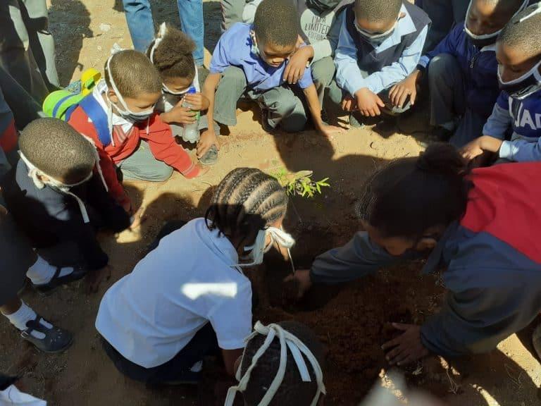 AfriForum se Keimoes-tak neem aan boomplantmaandprojek deel