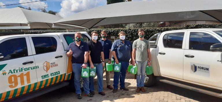 AfriForum versprei handreiniger en gesigmaskers na noordstreek-takke
