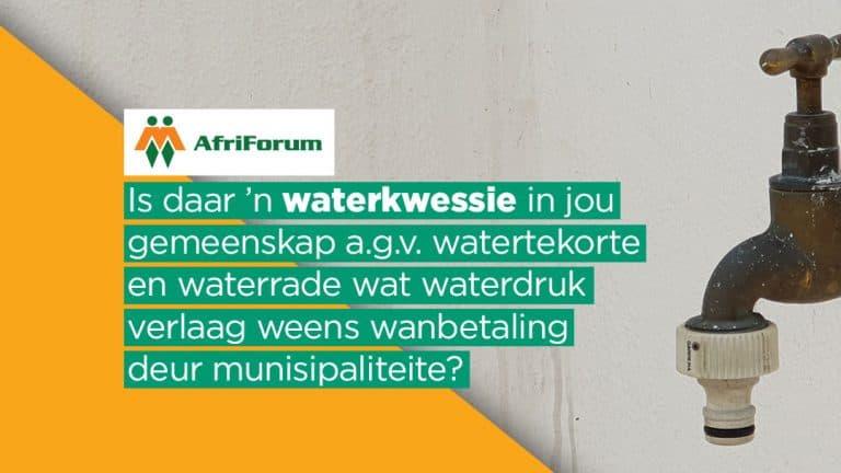 AfriForum Omgewingsake-watertekortpetisie