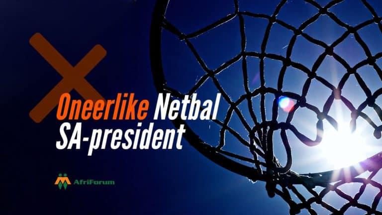 Oneerlike Netbal SA-president