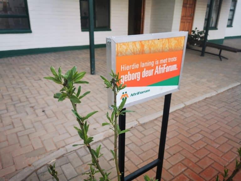 AfriForum skep hoop in Orania tydens boomplantmaand