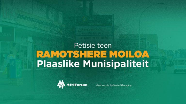 Petisie teen Ramotshere Moiloa Plaaslike Munisipaliteit
