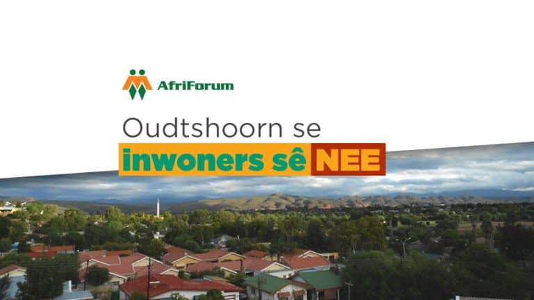 Petisie teen ontwikkeling in Oudtshoorn