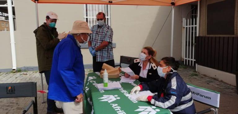 COVID-19: AfriForum-tak in Heilbron help met siftingstoetse en voorsien kospakkies