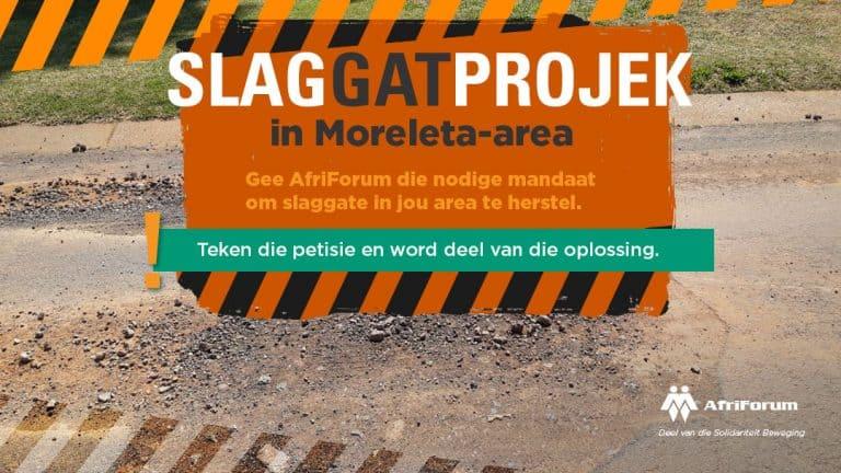 Slaggatprojek in Moreleta-area