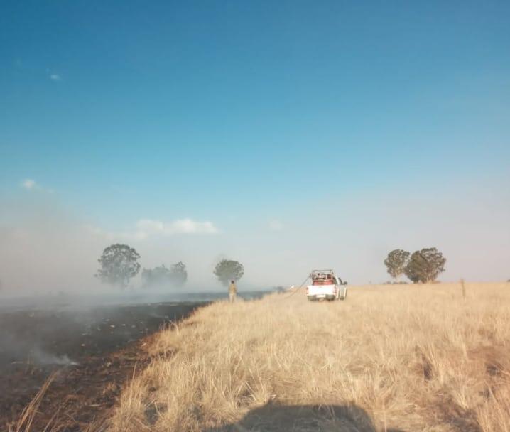 AfriForum se Standerton-buurtwag help om veldbrande te blus