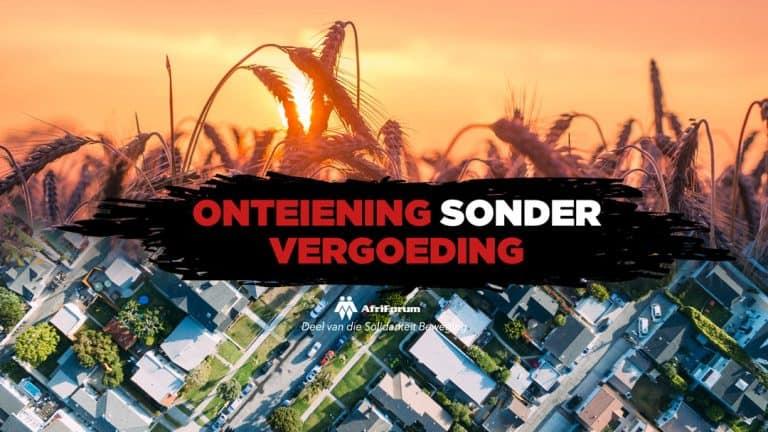 STOP ONTEIENING SONDER VERGOEDING!