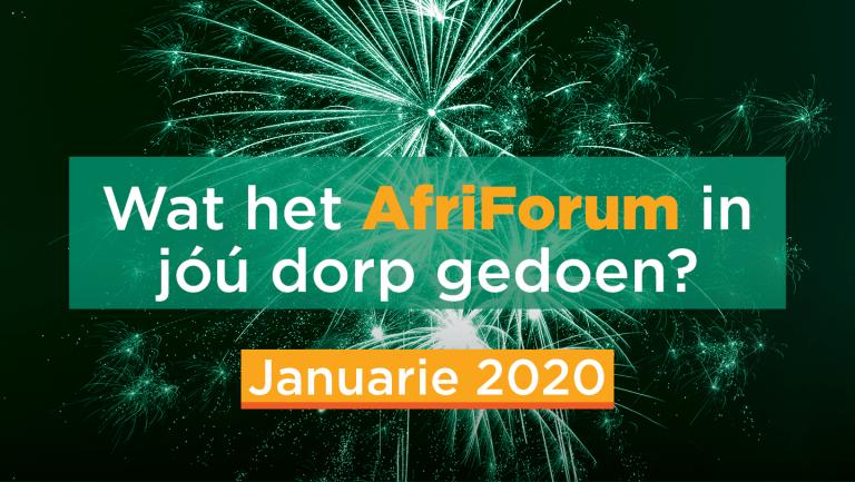 AFRIFORUM-SUKSESSE: JANUARIE 2020