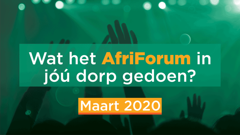 AFRIFORUM-SUKSESSE: MAART 2020