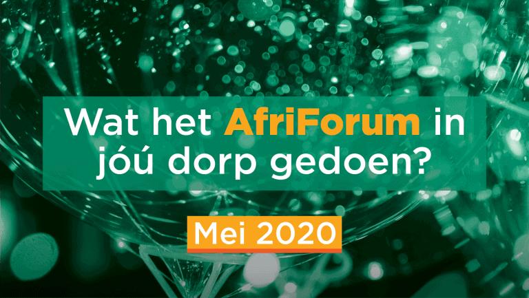 AFRIFORUM-SUKSESSE: Mei 2020