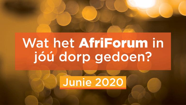 AFRIFORUM-SUKSESSE: JUNIE 2020