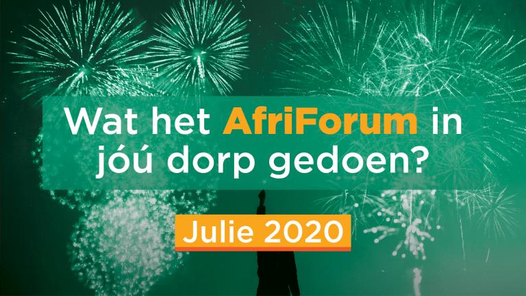 AFRIFORUM-SUKSESSE: JULIE 2020