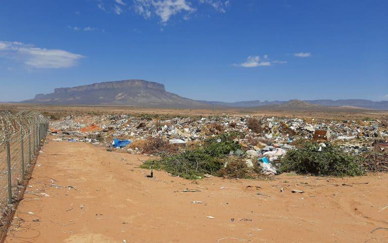 Wes-Kaap-vullisterreine in haglike toestand