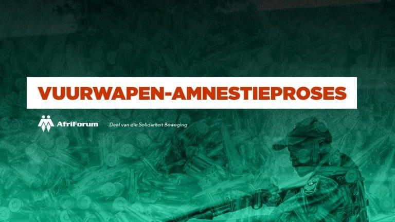 Vuurwapen-amnestie: Sal jy die polisie vertrou met jou vuurwapen?