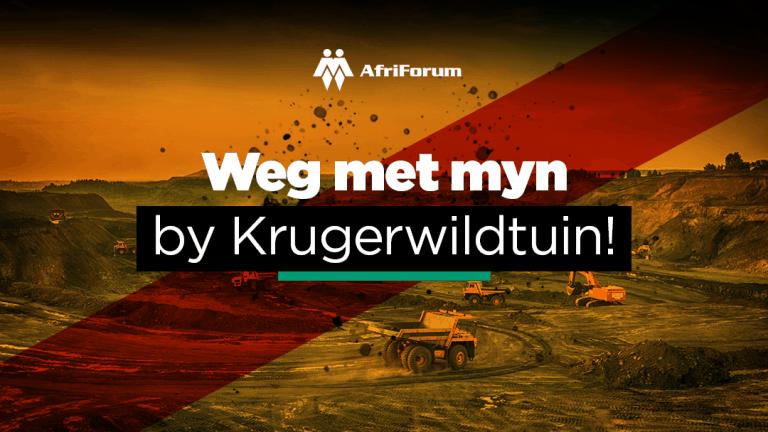 Weg met myn by Krugerwildtuin!