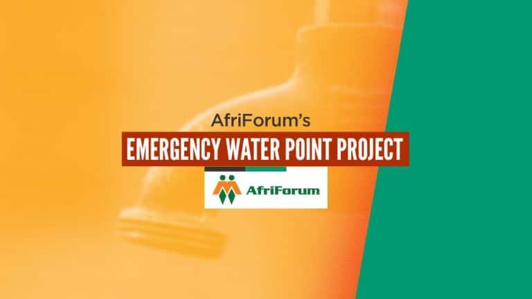 AfriForum's emergency water point project