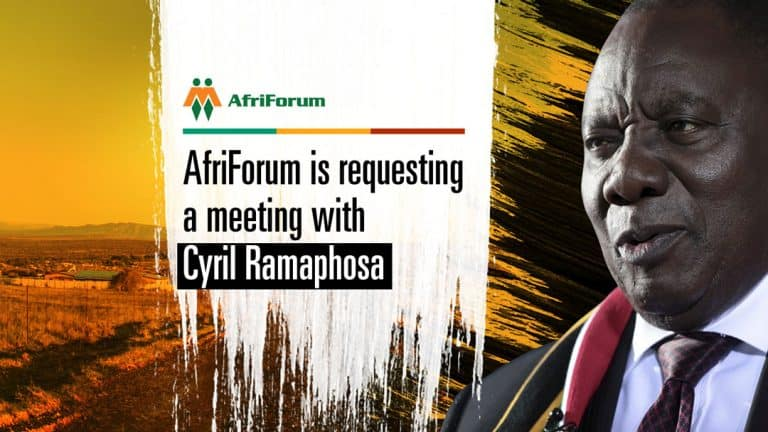 AfriForum requests urgent meeting with Ramaphosa