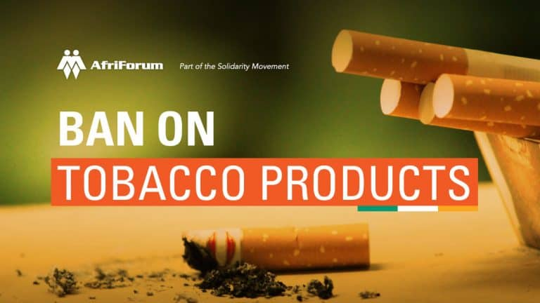 Ban on tobacco products