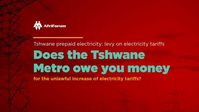 Tshwane electricity tariff increase