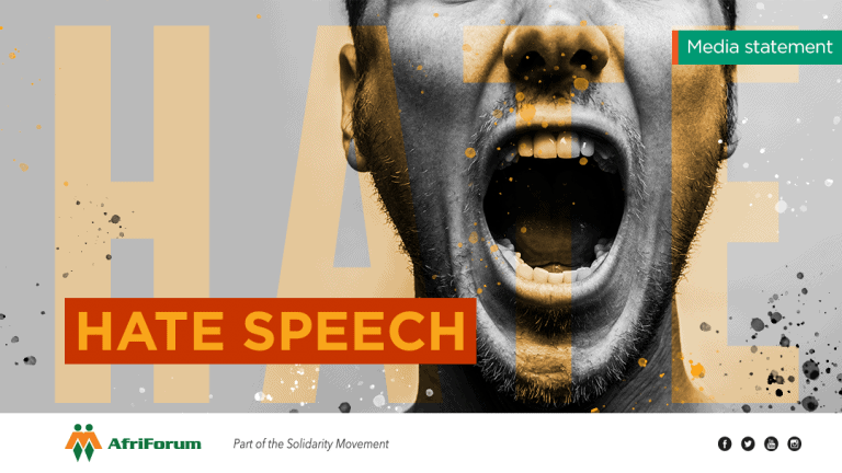 AfriForum to lay charges of hate speech and incitement against NMF