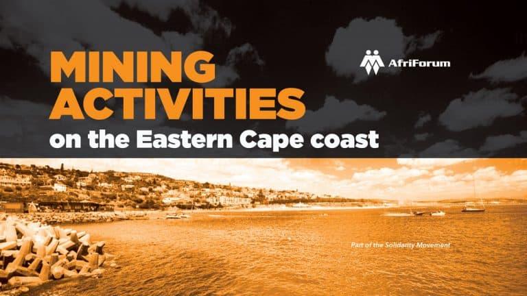 Mining activities on the Eastern Cape coast