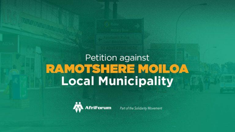 Petition against Ramotshere Moiloa Local Municipality