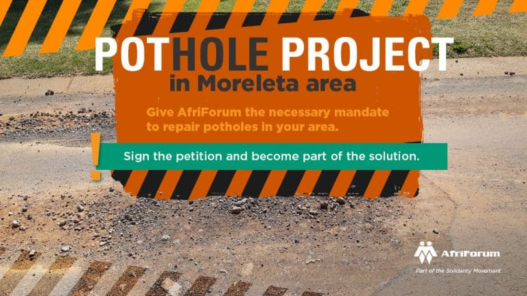 Pothole project in Moreleta area