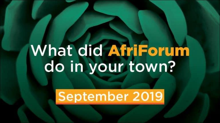 AFRIFORUM- SUCCESS: SEPTEMBER 2019