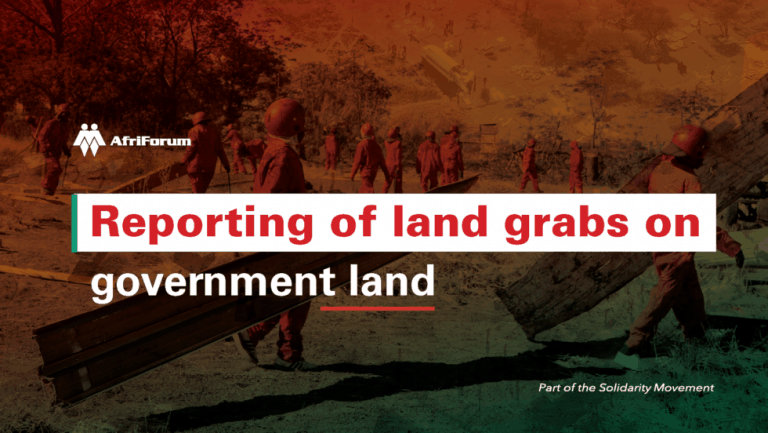 REPORTING OF LAND GRABS ON GOVERNMENT LAND