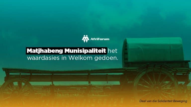 Matjhabeng Munisipaliteit het waardasies in Welkom gedoen.
