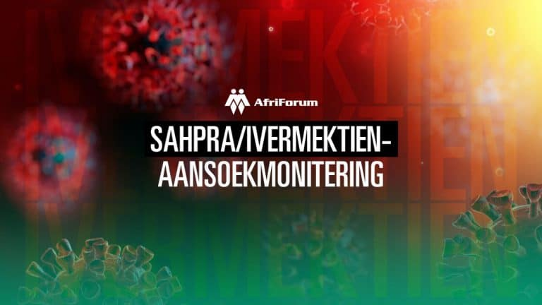 SAHPRA/IVERMEKTIEN-AANSOEKMONITERING