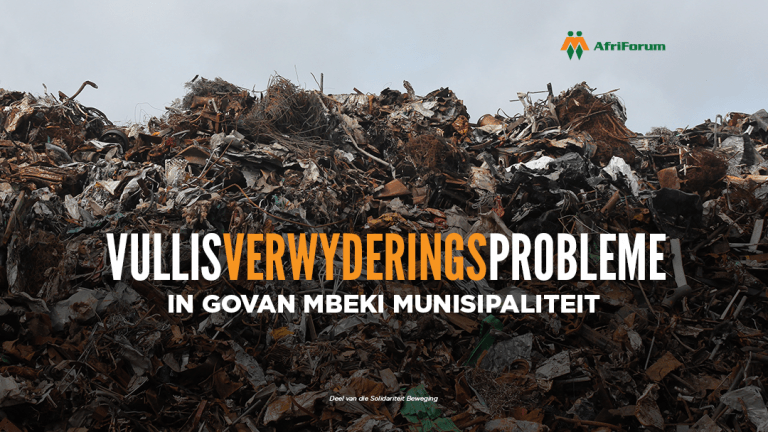 Vullisverwyderingsprobleme in Govan Mbeki Munisipaliteit