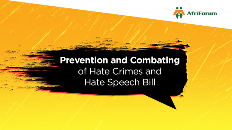 Prevention and Combating of Hate Crimes and Hate Speech Bill