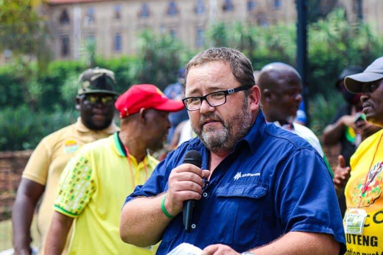 AfriForum delivers speech at SANCO's protest against farm murders