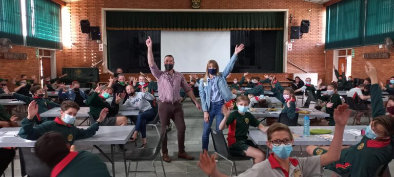 AfriForum en Evolve Life besoek Laerskool Muldersdrif-leiers