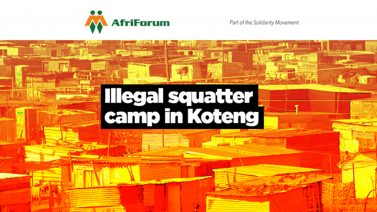 ILLEGAL SQUATTER CAMP IN KOTENG