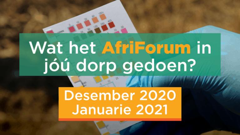 AFRIFORUM TAKSUKSESSE: DESEMBER 2020 / JANUARIE 2021