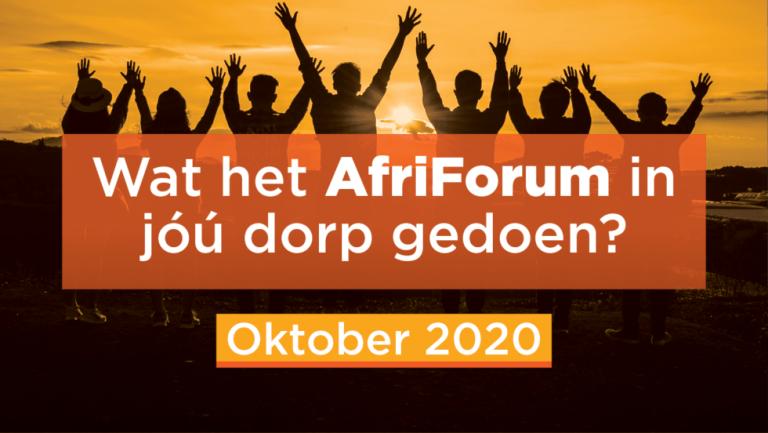 AFRIFORUM TAKSUKSESSE: OKTOBER 2020
