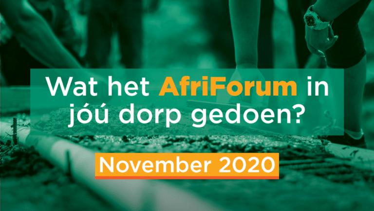 AFRIFORUM TAKSUKSESSE: NOVEMBER 2020