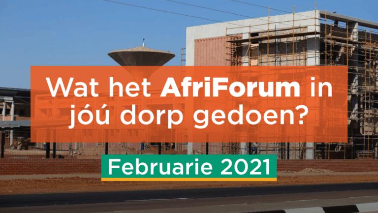 AFRIFORUM TAKSUKSESSE: FEBRUARIE 2021