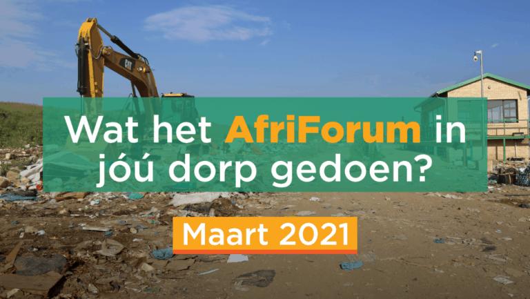 AFRIFORUM TAKSUKSESSE: MAART 2021